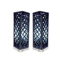 Studio 350 Set of 2, Ceramic Acrylic Uplight 16 inches high