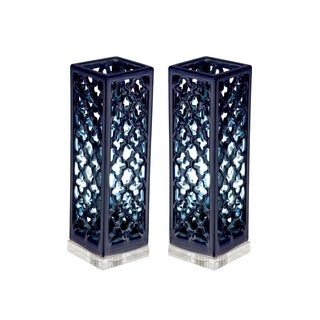 Studio 350 Set of 2, Ceramic Acrylic Uplight 16 inches high