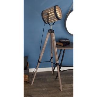 Studio 350 Pine Wood/ Iron Floor Spot Lamp