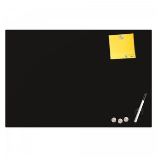 Magnetic Glass Eraser Board 24 by 36 Inches Radius Corners - Black
