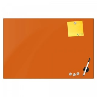 Magnetic Glass Eraser Board 16 by 16 Inches Radius Corners - Peach