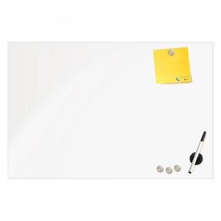 Magnetic Glass Eraser Board 16 by 16 Inches Radius Corners - White
