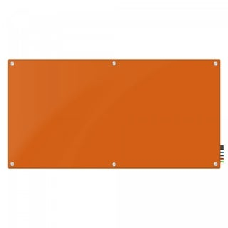 Magnetic Glass Eraser Board 48 by 72 Inches Radius Corners - Peach