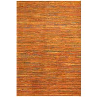 Handmade Herat Oriental Indo Chenille Flatweave Contemporary Rug - 5'6 x 7'7 (India)