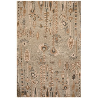 Handmade Chenille Flatweave Ikat Rug (India) - 4' x 6'
