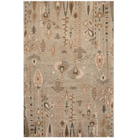 Handmade Herat Oriental Indo Chenille Flatweave Ikat Rug - 4' x 6' (India)