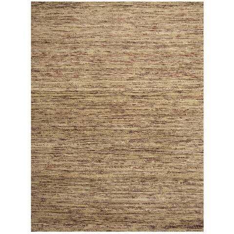 "Handmade Herat Oriental Indo Chenille Flatweave Contemporary Rug (India) - 6'6"" x 9'6"""