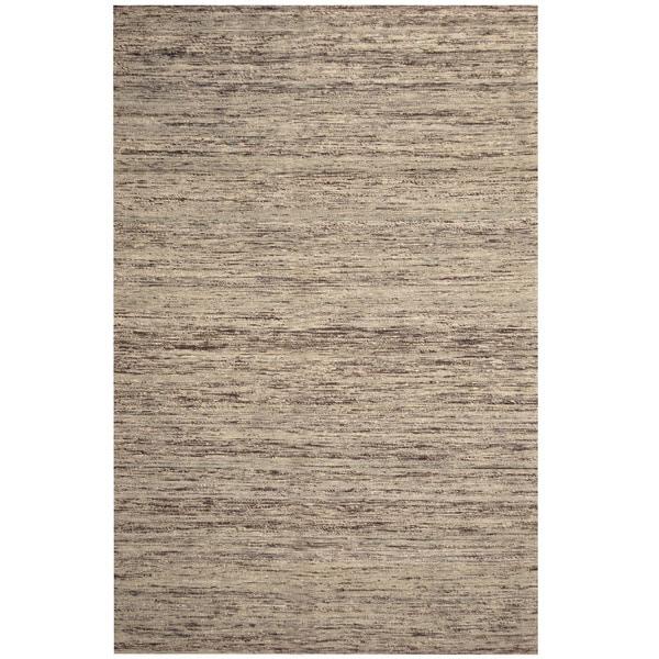 Handmade Chenille Flatweave Rug (India) - 6'6 x 9'6