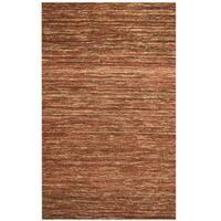 Herat Oriental Indo Hand-tufted Chenille Flatweave Contemporary Rug - 6'6 x 9'6