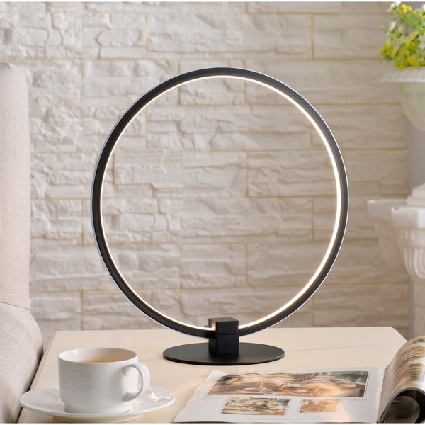 Design Craft Dawn Black 15-inch LED Table Lamp