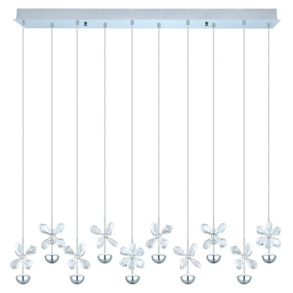 Eglo Pianopoli Multilight Pendant with Chrome Finish