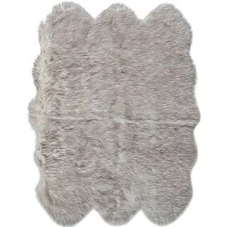 eCarpetGallery Handmade Polara  Acrylic Faux Fur Rug (4'6 x 5'9)