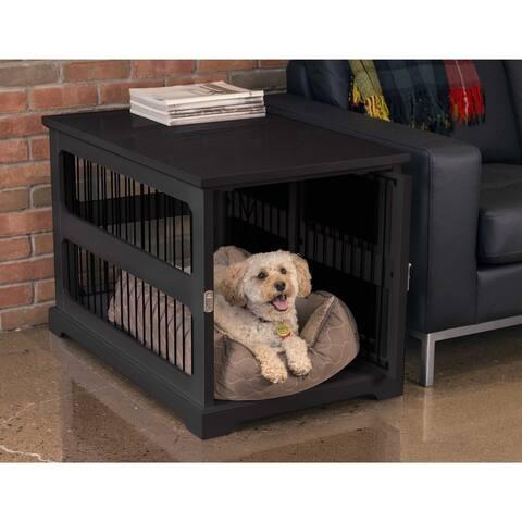Slide Aside Dog Crate & Kennel End Table