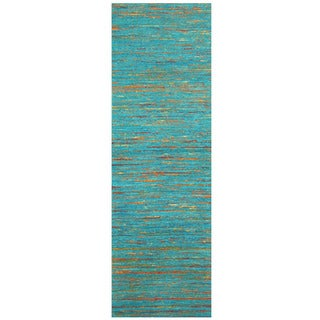 Handmade Chenille Flatweave Runner (India) - 2'8 x 8'