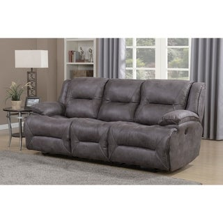 Dylan Dual Power Reclining Sofa with Memory Foam Seat Toppers and USB Charging Ports