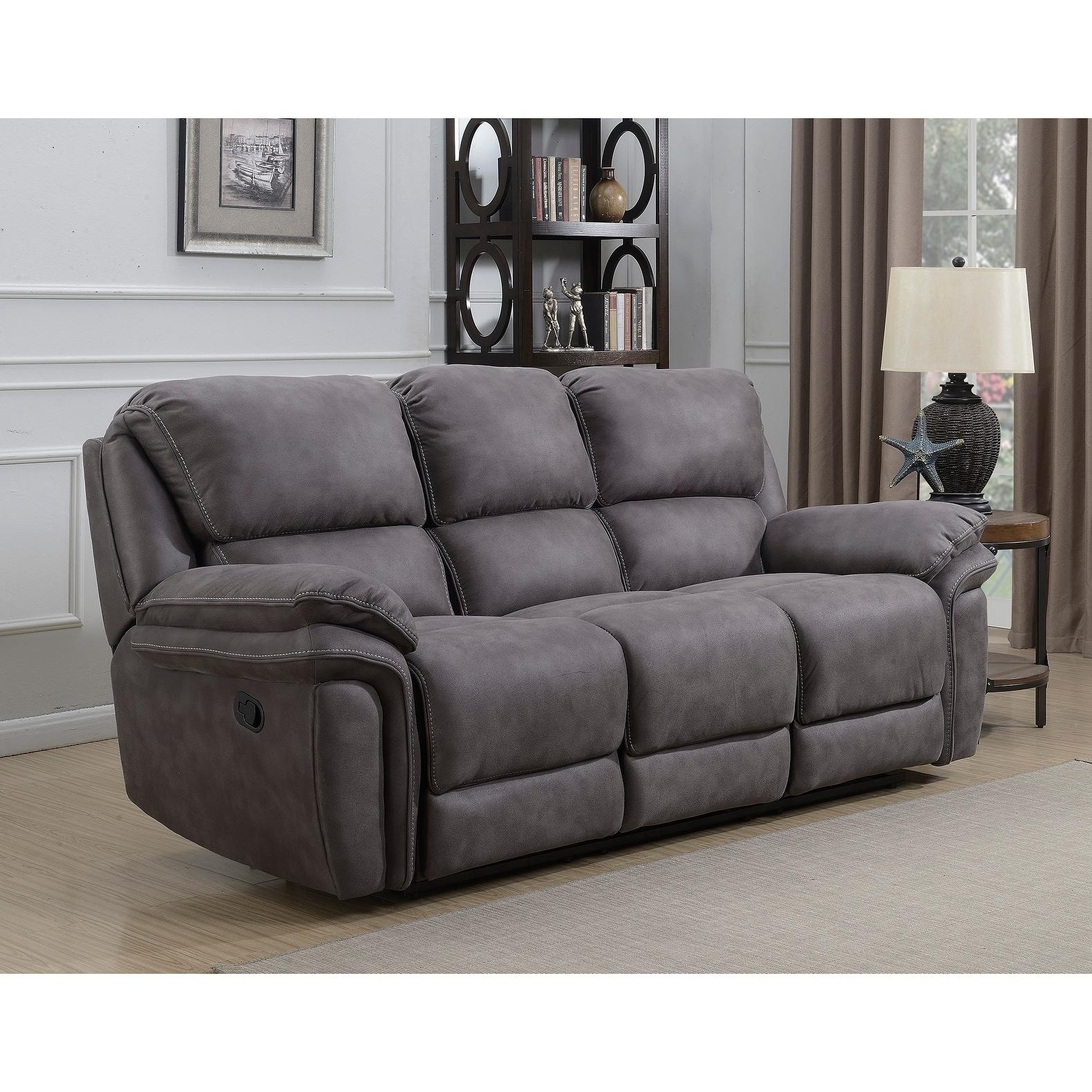 Shop Henry Dual Lay Flat Reclining Sofa with Memory Foam Seat ...
