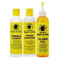 Jamaican Mango & Lime 8-ounce Tingle Shampoo & Protein Conditioner + Island Oil