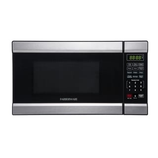 Farberware 0.7 Cubic Foot 700-Watt Microwave Oven, Stainless Steel/Black