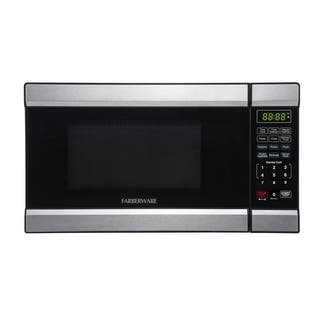Farberware 0.7 Cubic Foot 700-Watt Microwave Oven, Stainless Steel/Black|https://ak1.ostkcdn.com/images/products/17610855/P23827693.jpg?impolicy=medium