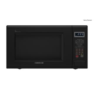 Farberware  1.3 Cubic Foot, 1100-Watt Microwave with Smart Sensor, Black