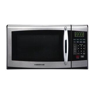 Farberware 0.9 Cubic Foot 900-Watt Microwave Oven, Stainless Steel/Black