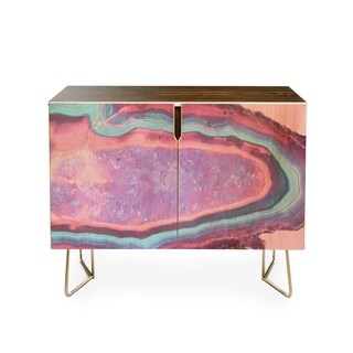 Emanuela Carratoni Serenity and Rose Agate With Amethyst Crystals Credenza