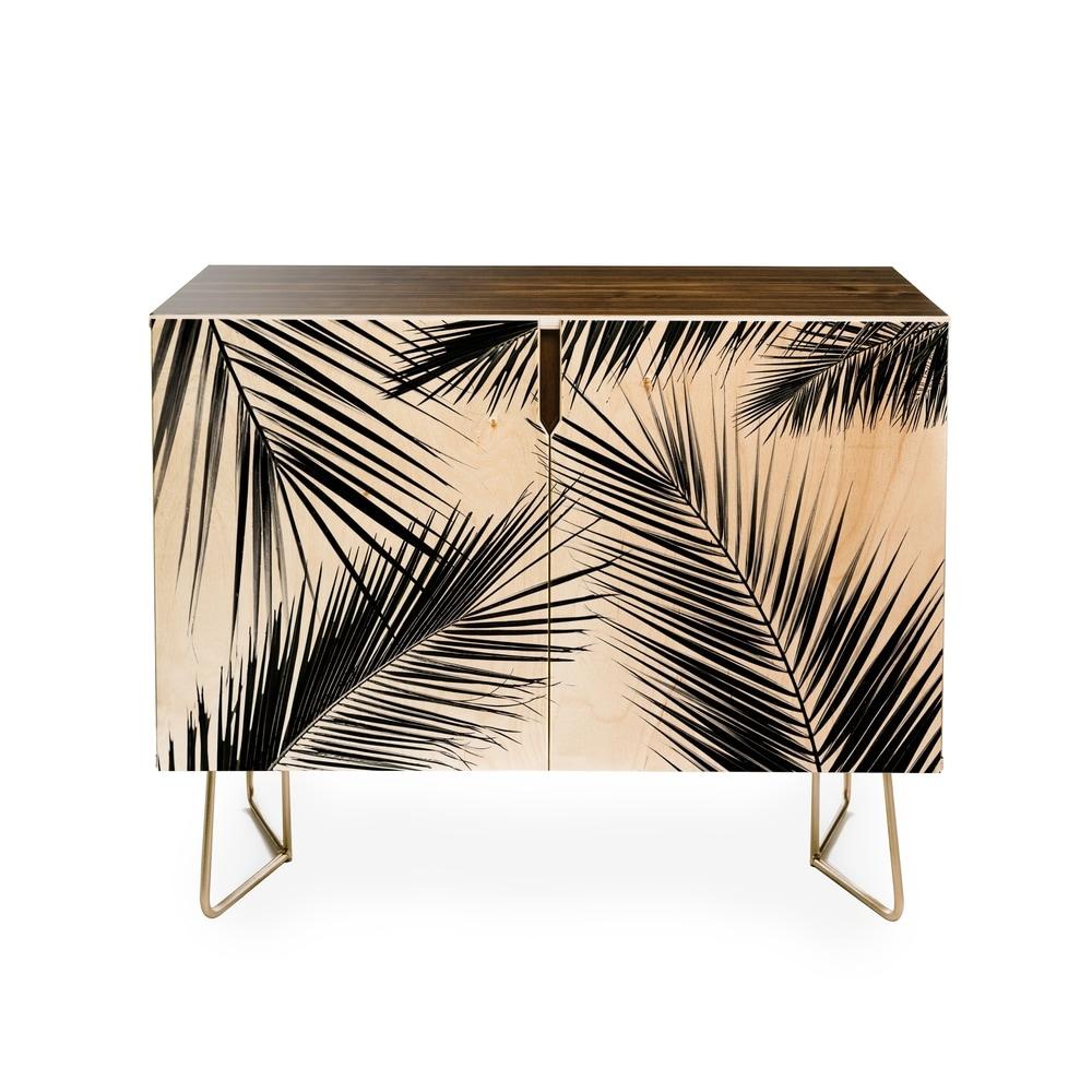 Deny Designs Mareike Boehmer Palm Leaves 10 Credenza (Black)