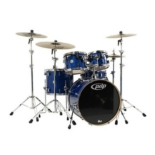 Pacific PDP Concept Maple 5-Piece Shell Pack w/ Chrome Hardware - Blue Sparkle