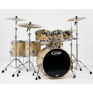 Pacific PDP CM7 Concept Maple 7-Piece Drum Shell Pack w/ Chrome Hardware - Natural