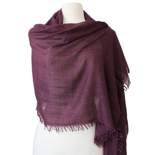 Cashmere and Silk Blend Wrap Around Stole