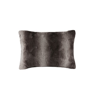 Madison Park Marselle Luxurious Faux Fur 14x20 Inch Oblong Pillow 4 Color Options