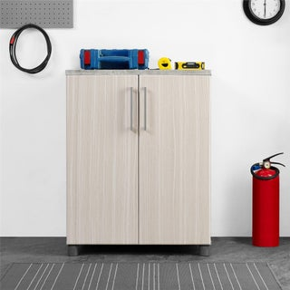 SystemBuild Latitude 2 Door Base Cabinet (Option: Natural and Grey)
