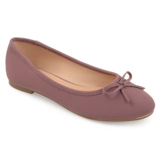 Journee Collection Women's 'Conlin' Wide Width Bow Ballet Flats