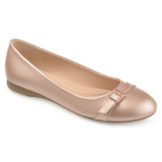 Journee Collection Women's 'Trudy' Comfort-sole Buckle Detail Flats