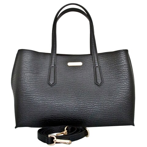 Leatherbay Alia Black Tote Bag