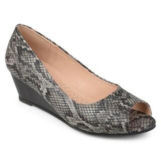Journee Collection Women's 'Chaz' Peep-toe Comfort-sole Wedges