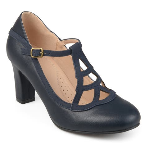 9c6656d807 Journee Collection Women's 'Nile' Round-toe Vintage Comfort-sole Two-tone