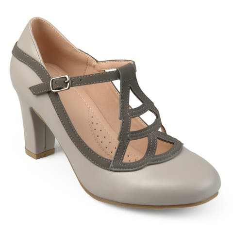 37cc096e5d Journee Collection Women's 'Nile' Round-toe Vintage Comfort-sole Two-tone