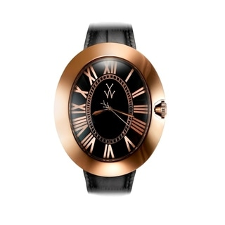 ToyWatch Dome Black and Pink Gold BB02BKP