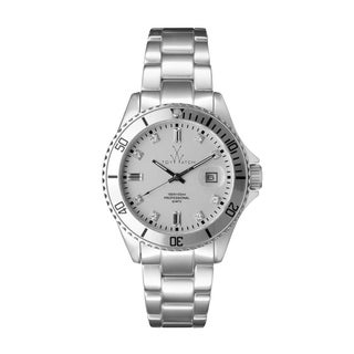 ToyWatch Metallic Silver with Stones ME05SL