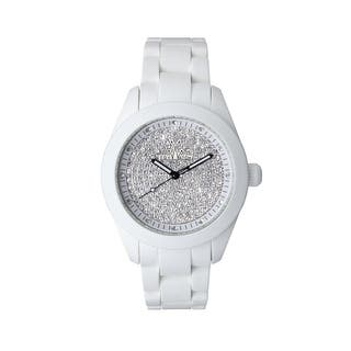 ToyWatch Velvety White Full Pave VV15WH|https://ak1.ostkcdn.com/images/products/17611404/P23828141.jpg?impolicy=medium