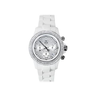 ToyWatch Velvety Chrono White and Silver with Stones VVCMS05WH https://ak1.ostkcdn.com/images/products/17611408/P23828139.jpg?impolicy=medium