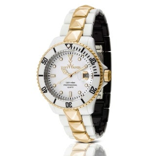 ToyWatch Toy MrHyde White and Black with Gold Stud HY08WHS