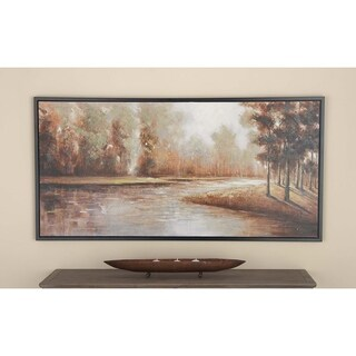 Studio 350 Forest Lake View Framed Canvas Art