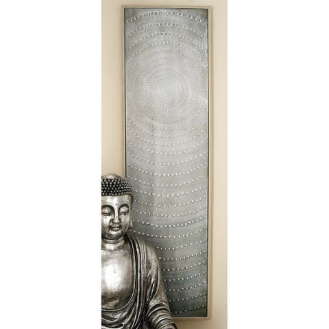 Modern 20 x 71 Inch Rectangular Gray Framed Canvas Art by Studio 350 - Grey