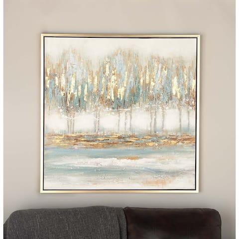 Modern 39 Inch Polystone and Wood Framed Canvas Art by Studio 350 - multi
