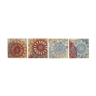 Studio 350 Embroidery Canvas Art Set of 4, 16 inches wide,16