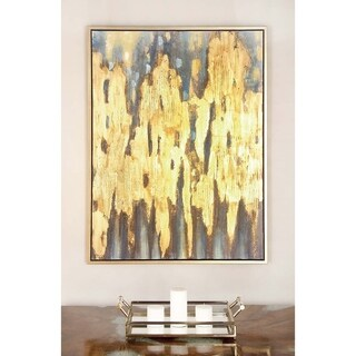 Industrial 47 x 36 Inch Framed Abstract Canvas Art by Studio 350 - multi