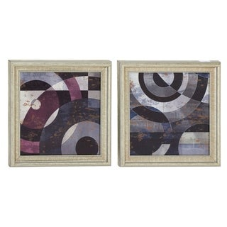 Studio 350 Wood Wall Decor Set of 2, 17 inches wide, 17 inches high