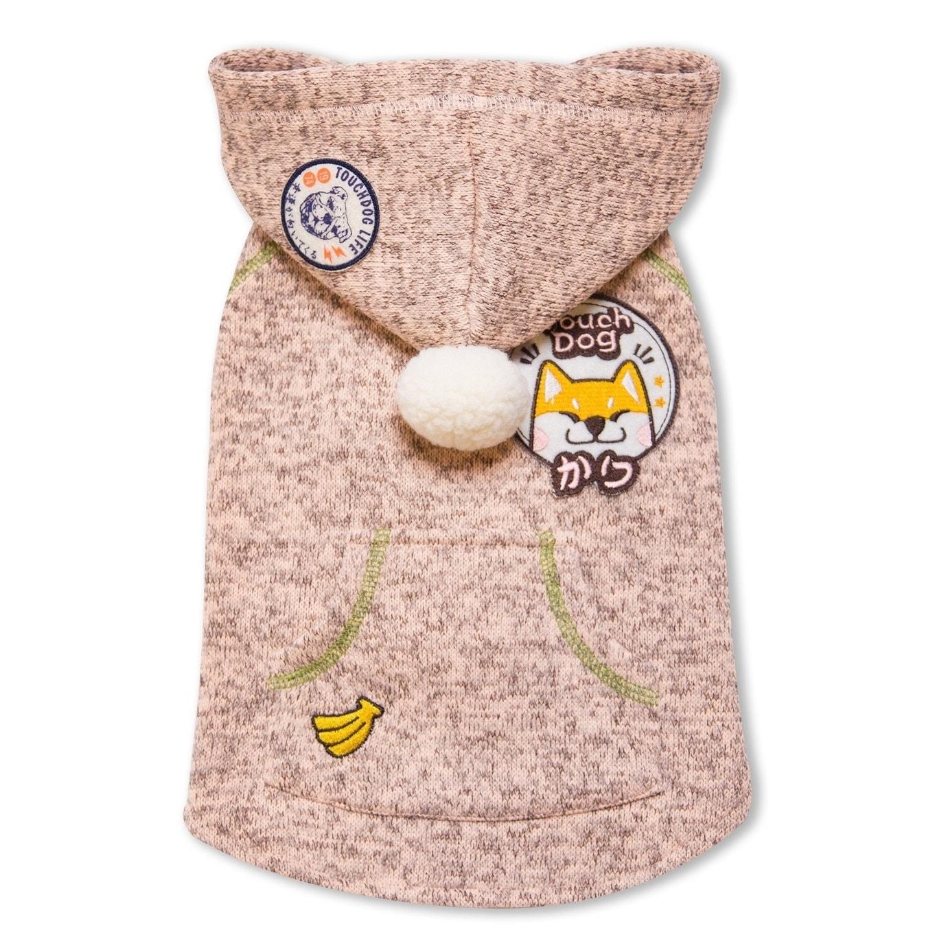 Touchdog Hippie Embellished Designer Sleeveless Pompom Pe...